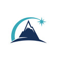 mountain star energy power vector image vector image