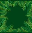 palm leaf tree background design vector image vector image