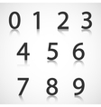 Paper numbers with reflection vector image