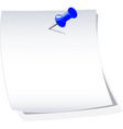 piece of paper vector image vector image