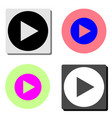play flat icon vector image