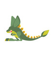 prehistoric jerboa dinosaur dino is jumping vector image vector image