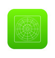 radar icon green vector image vector image