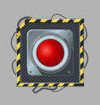 red button cyber punk style icon template vector image vector image
