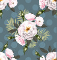 rose seamless pattern7 vector image vector image