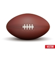 Rugby ball isolated on a white background vector image vector image