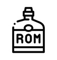rum drink bottle icon outline vector image vector image