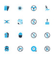 safety icons colored set with laser beam hand vector image vector image