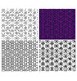 seamless flower pattern in linear style vector image vector image