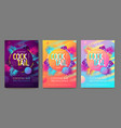 set colorful summer tropical gradient vector image