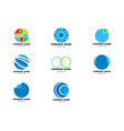 set of abstract circle logo vector image
