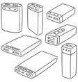 set of power bank vector image