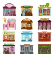 Shop facade set vector image