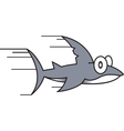 Small shark cartoon vector image vector image