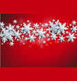 stars shine red banner vector image