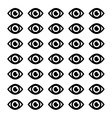 Surveillance eye symbol vector image