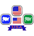 symbol of UNITED STATES OF AMERICA vector image vector image