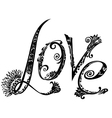 The inscription love vector image vector image