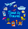 travel and journey card vector image vector image