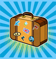 traveler suitcase comic book style vector image