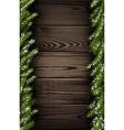 Wooden winter background vector image