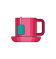 tea cup flat vector image