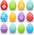 bright Easter eggs vector image