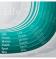 sport life abstract background vector image
