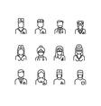 Doctor icons nurse symbols medical professionals vector image
