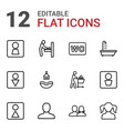 12 restroom icons vector image vector image