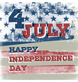 4th july american independence day poster vector image vector image