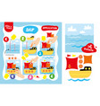application ship kid game printable worksheet vector image vector image