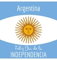 Argentina card independence day vector image vector image