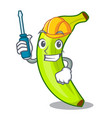 automotive fruit green bananas isolated on mascot vector image vector image