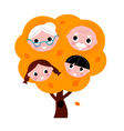 Autumn family tree vector image