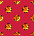 basketball ball seamless pattern vector image vector image