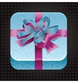 beatiful app icon with present vector image vector image