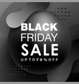 black friday sale design with gradient shapes vector image
