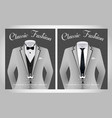 business suit template with black tie and white sh vector image vector image