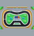 car racing game viewed from above vector image