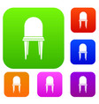 chair set collection vector image vector image