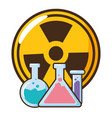 chemical flask radiation vector image vector image