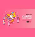 chinese new year horizontal banner vector image vector image