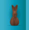 chocolate easter bunny realistic 3d design vector image