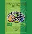 color vintage supermarket sale banner vector image vector image