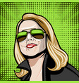 comic a girl in classic glasses vector image