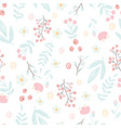 cute hand draw style pastel pink and blue spring vector image vector image