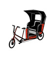 Cycle Rickshaw vector image
