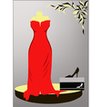 Evening Dress vector image