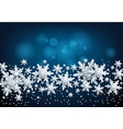 falling snow on blue vector image vector image